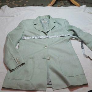 Talbots Linen Blazer - Sage Green